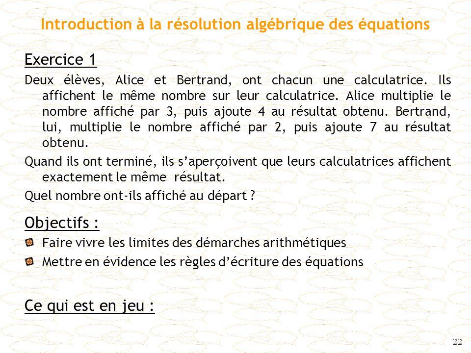 Introduction à la résolution algébrique des équations