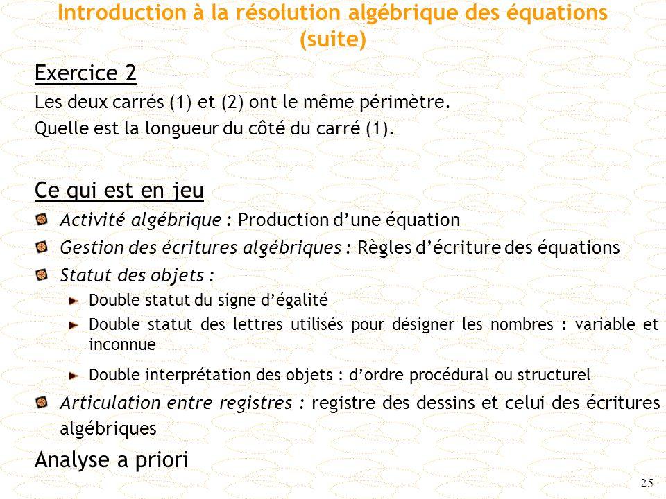 Introduction à la résolution algébrique des équations (suite)