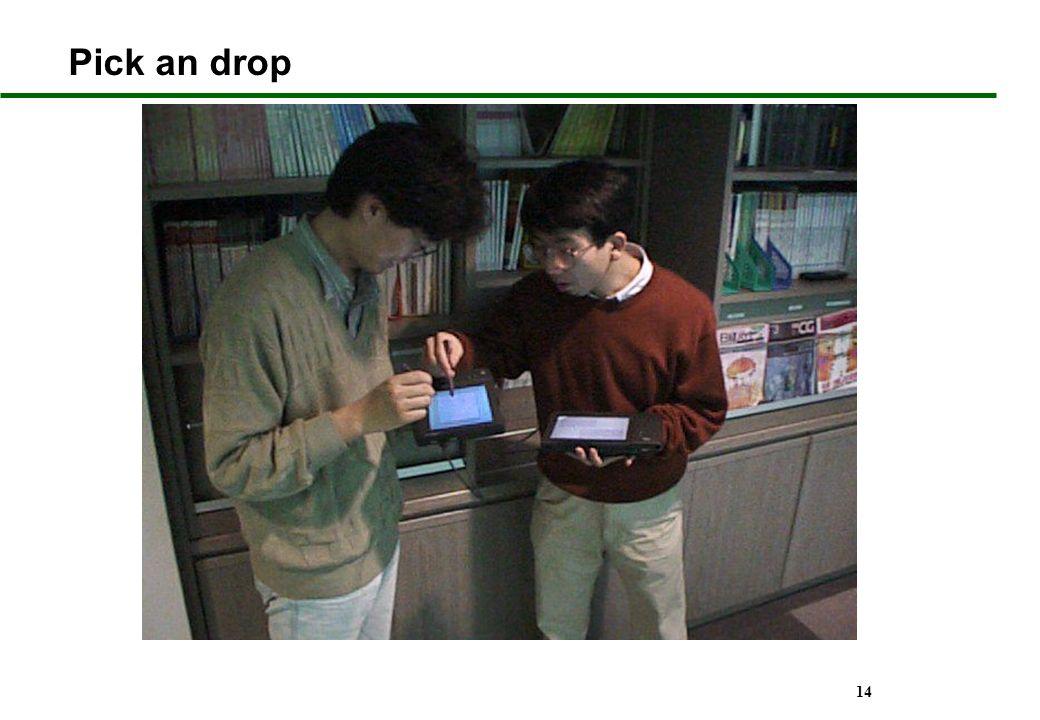 Pick an drop Références