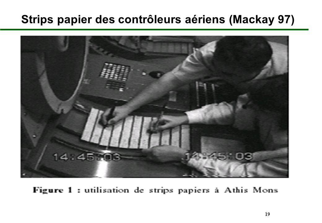 Strips papier des contrôleurs aériens (Mackay 97)