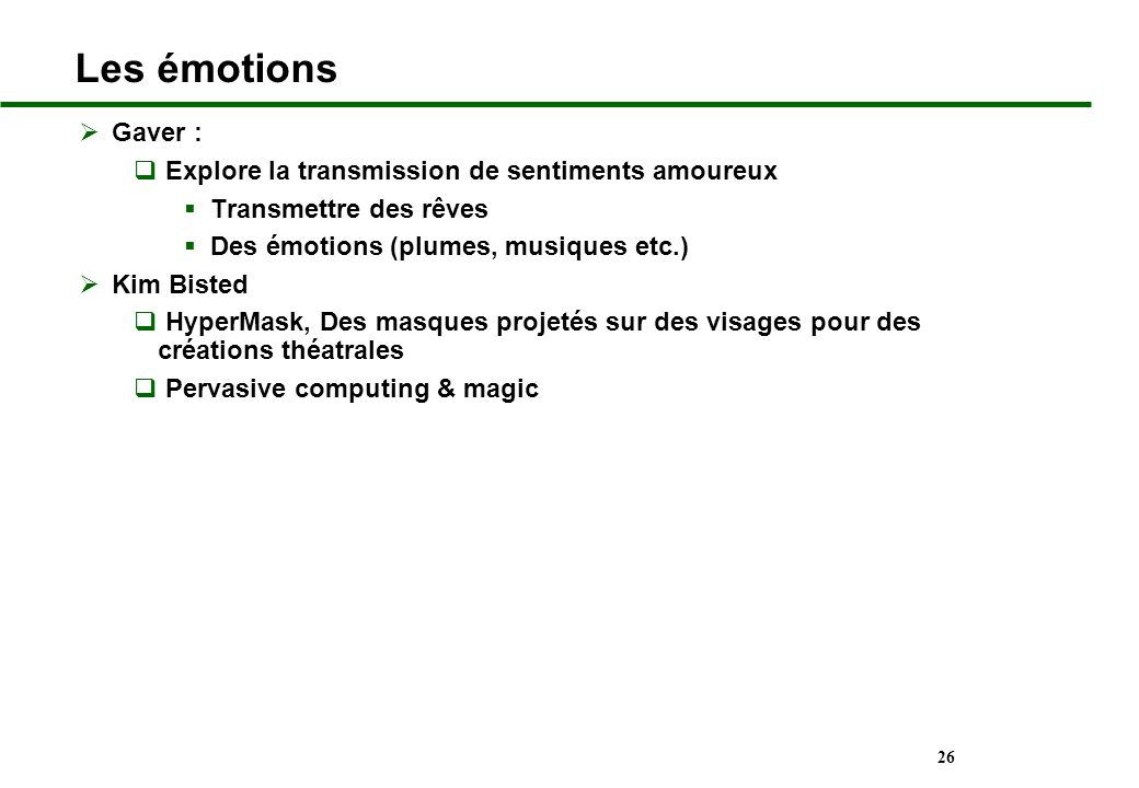 Les émotions Gaver : Explore la transmission de sentiments amoureux