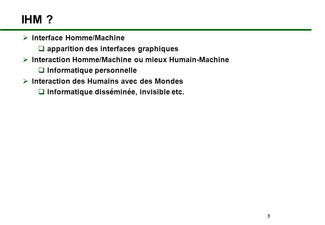 IHM Interface Homme/Machine apparition des interfaces graphiques