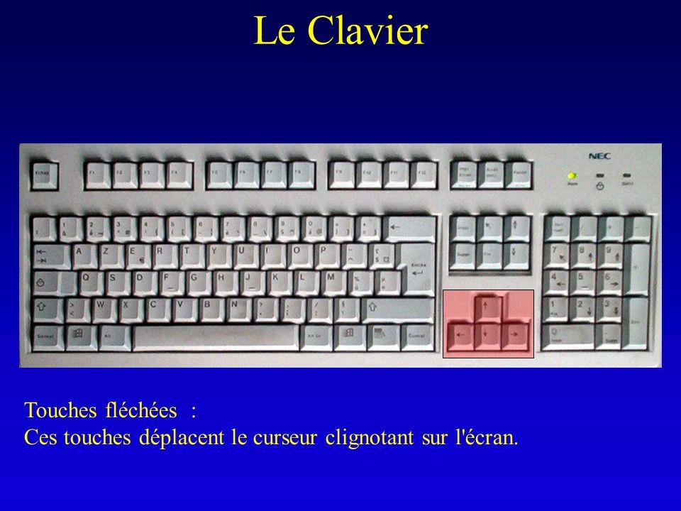 Le Clavier Touches fléchées :