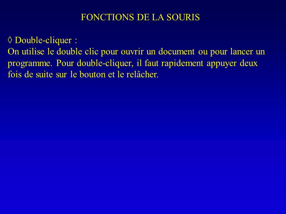 FONCTIONS DE LA SOURIS