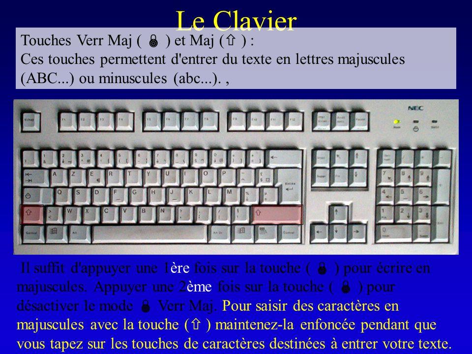 Le Clavier Touches Verr Maj (  ) et Maj ( ) :