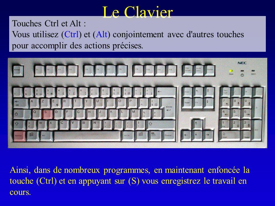 Le Clavier Touches Ctrl et Alt :