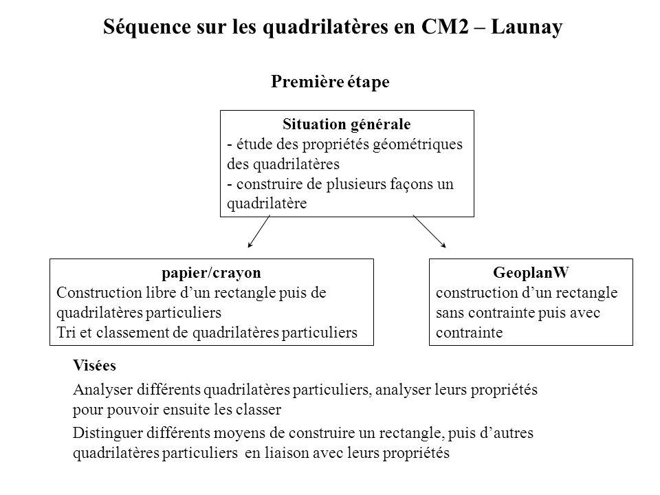 Séquence sur les quadrilatères en CM2 – Launay