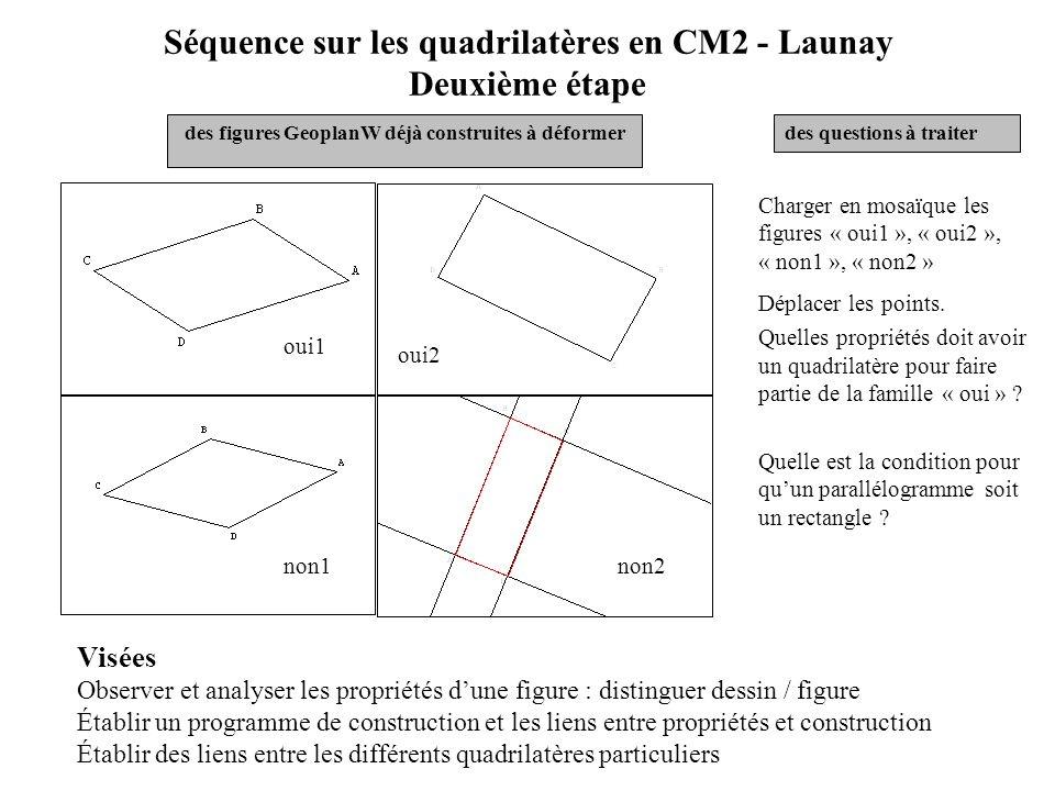 Séquence sur les quadrilatères en CM2 - Launay Deuxième étape