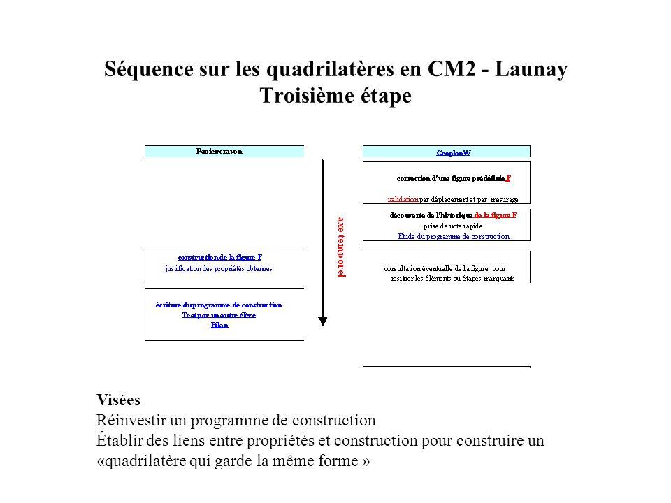 Séquence sur les quadrilatères en CM2 - Launay Troisième étape