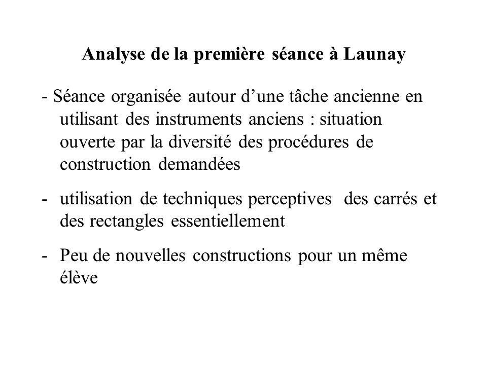 Analyse de la première séance à Launay