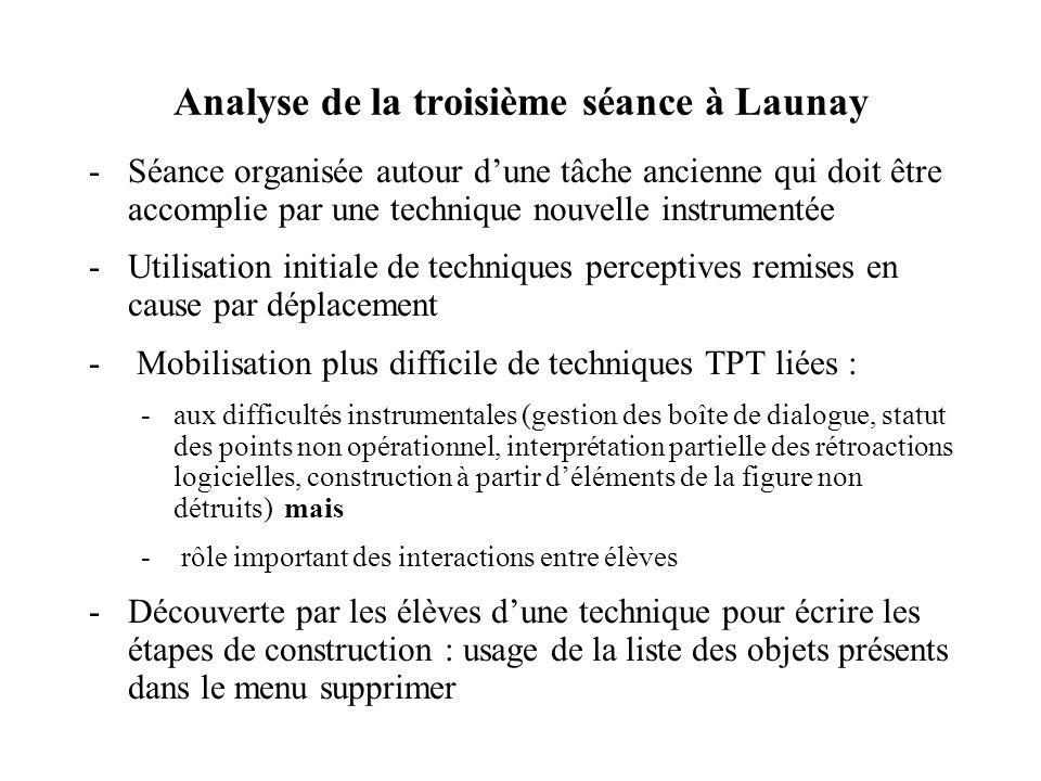 Analyse de la troisième séance à Launay