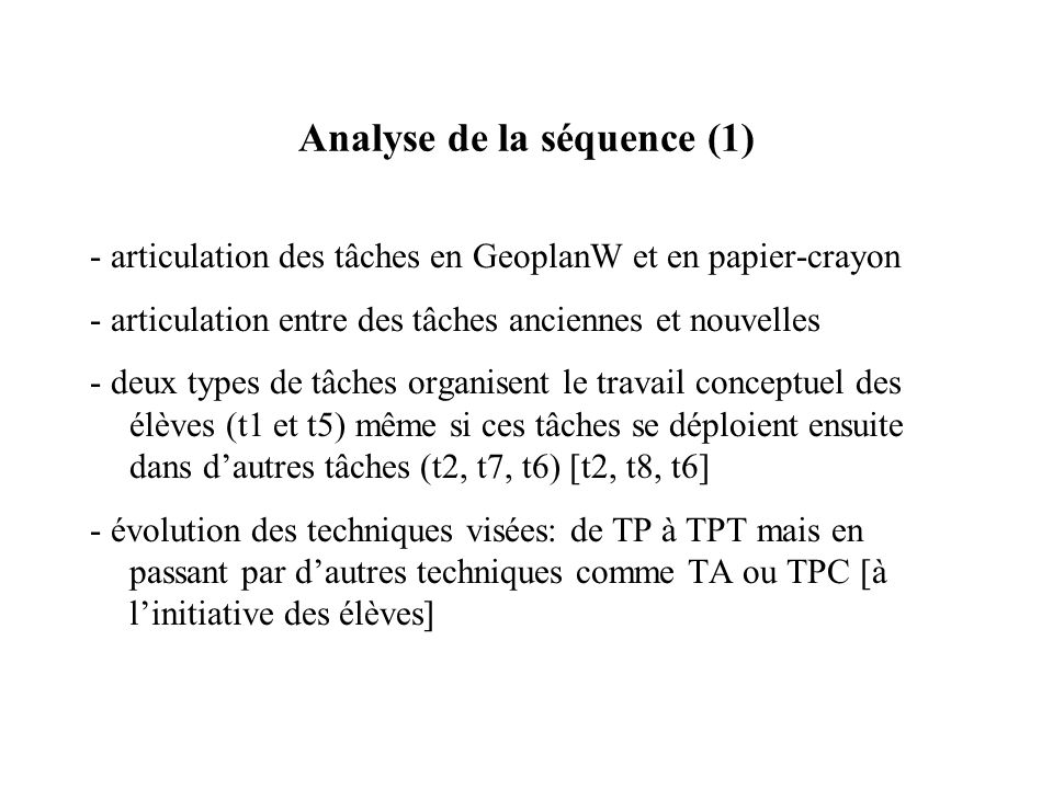 Analyse de la séquence (1)