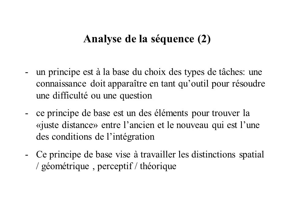 Analyse de la séquence (2)