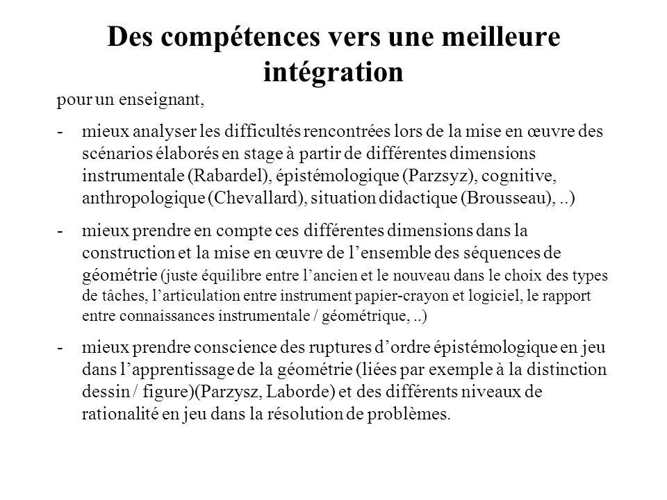 Des compétences vers une meilleure intégration