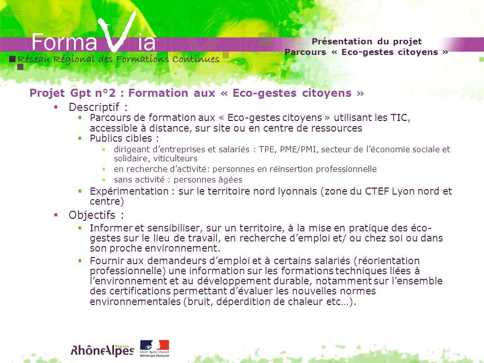 Présentation du projet Parcours « Eco-gestes citoyens »