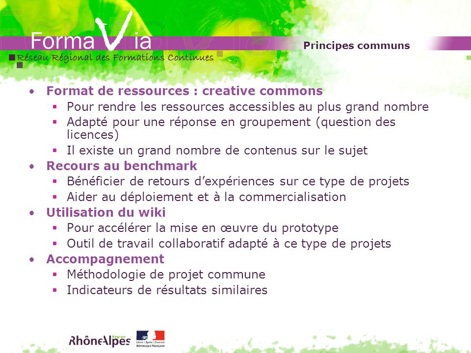 Format de ressources : creative commons