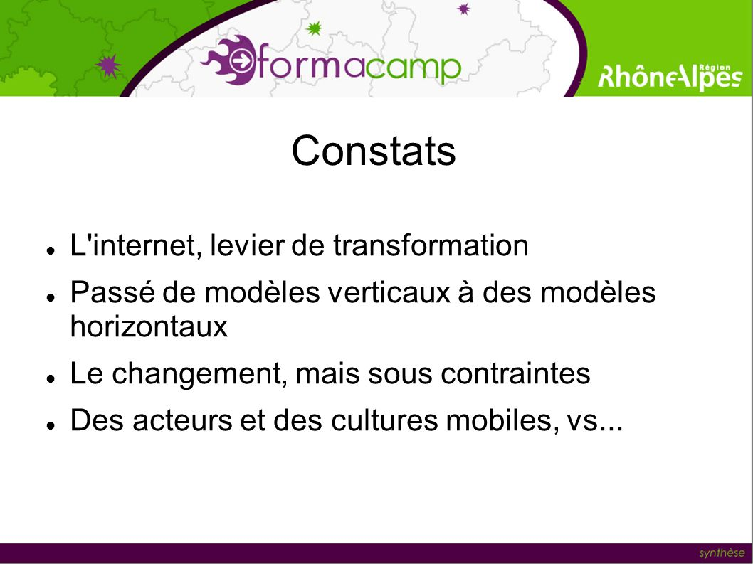 Constats L internet, levier de transformation