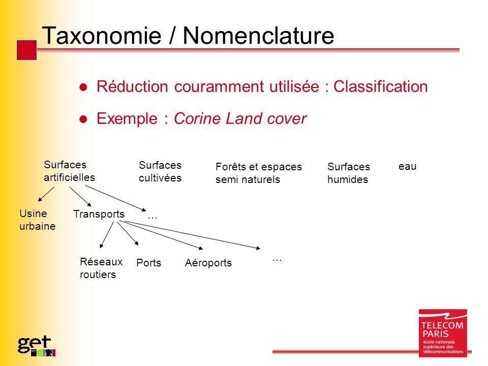 Taxonomie / Nomenclature