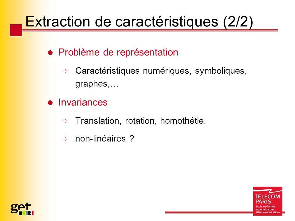 Extraction de caractéristiques (2/2)