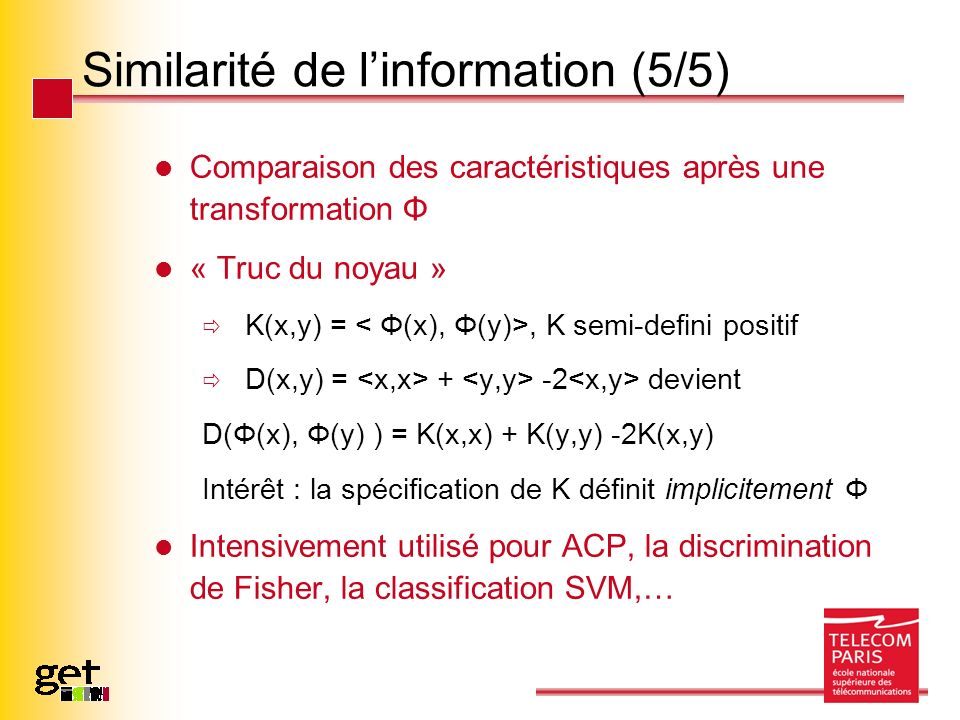 Similarité de l'information (5/5)