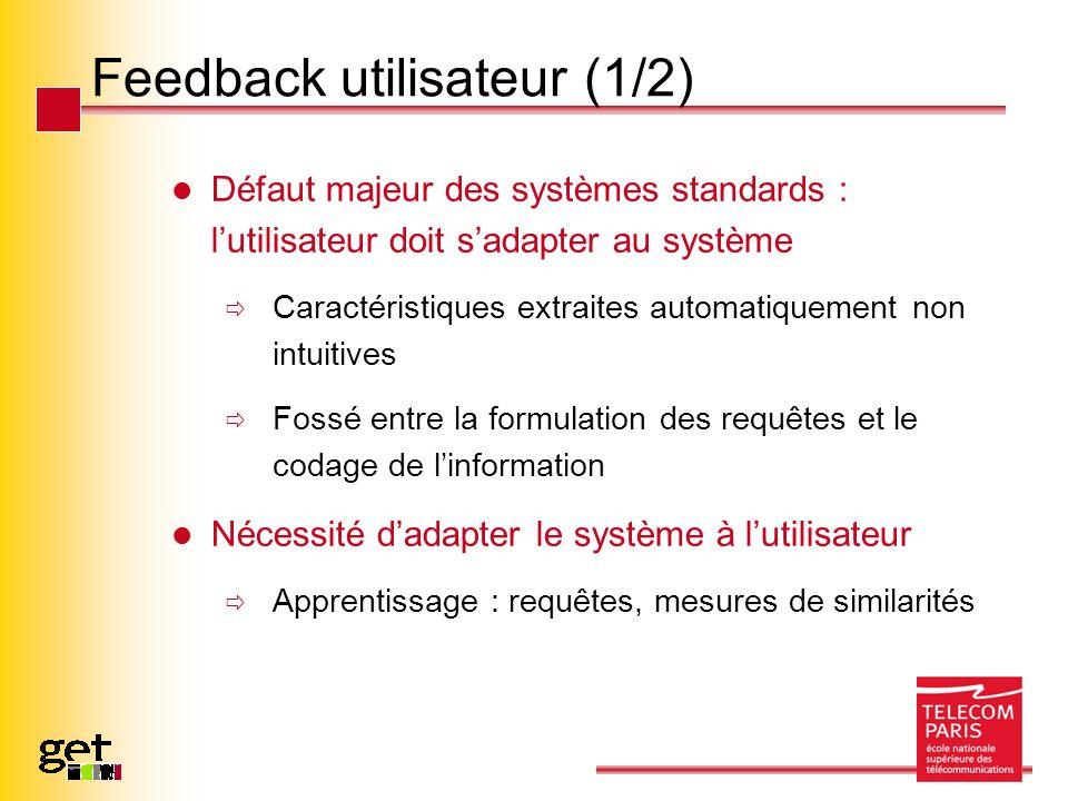 Feedback utilisateur (1/2)