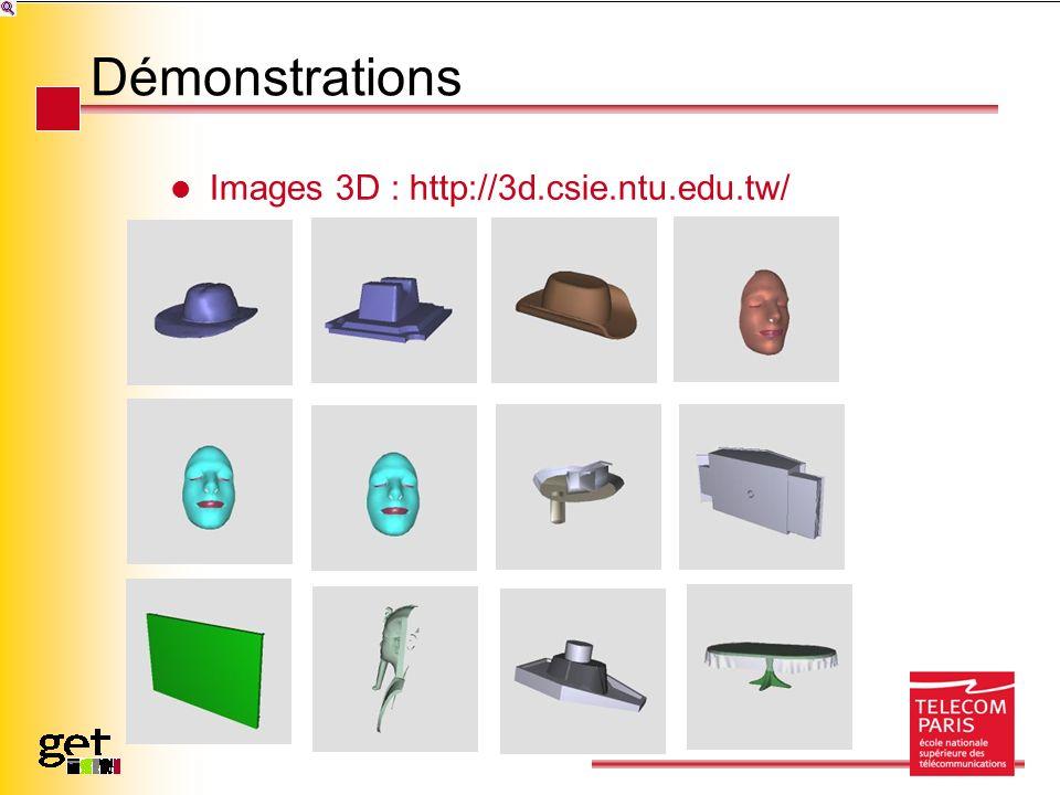Démonstrations Images 3D : http://3d.csie.ntu.edu.tw/
