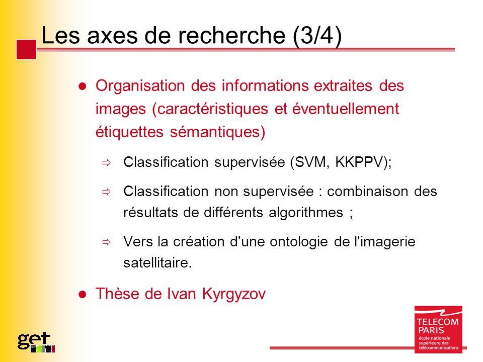 Les axes de recherche (3/4)
