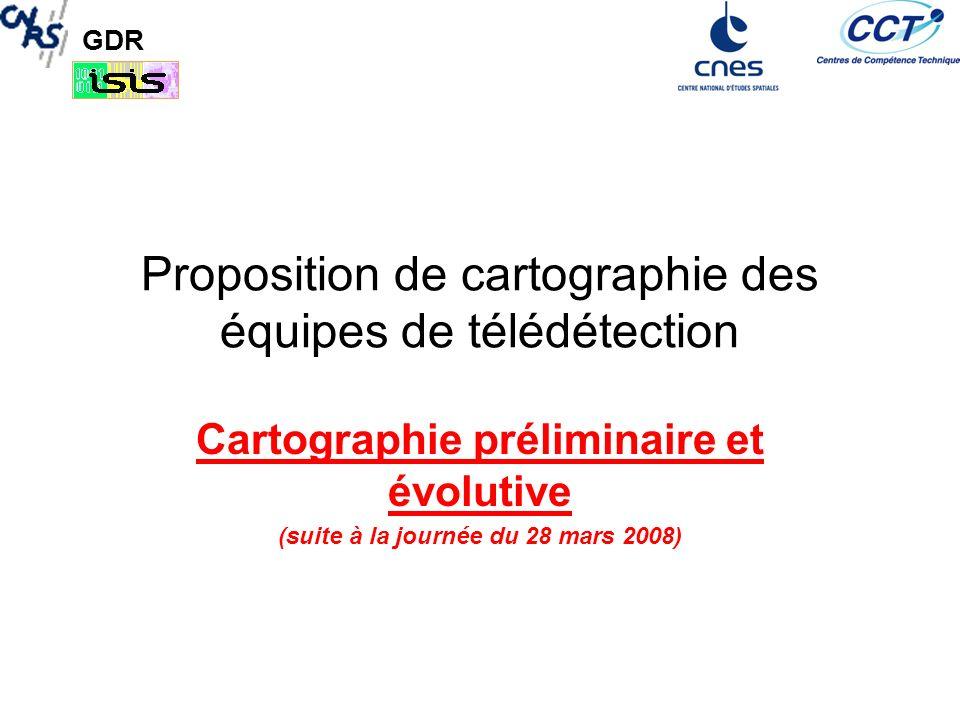 Proposition de cartographie des équipes de télédétection