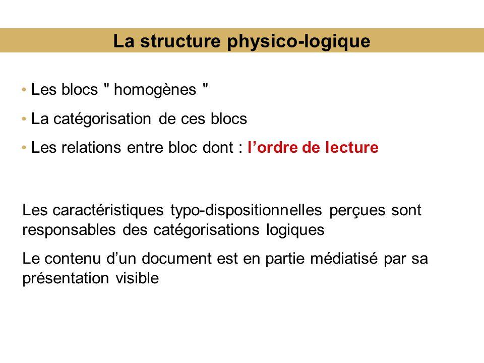 La structure physico-logique