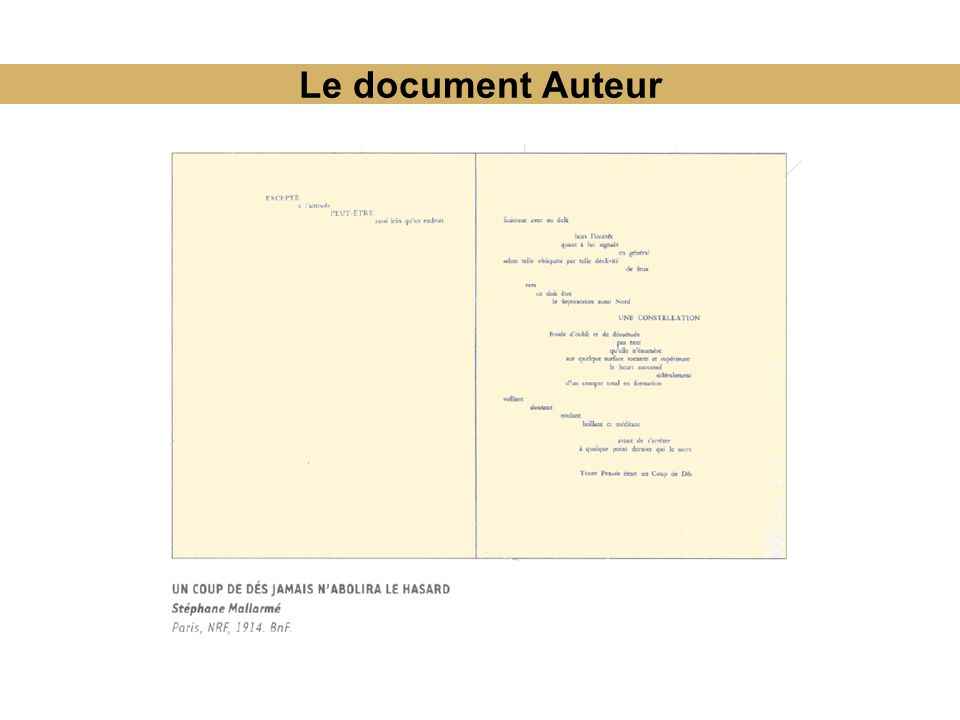 Le document Auteur