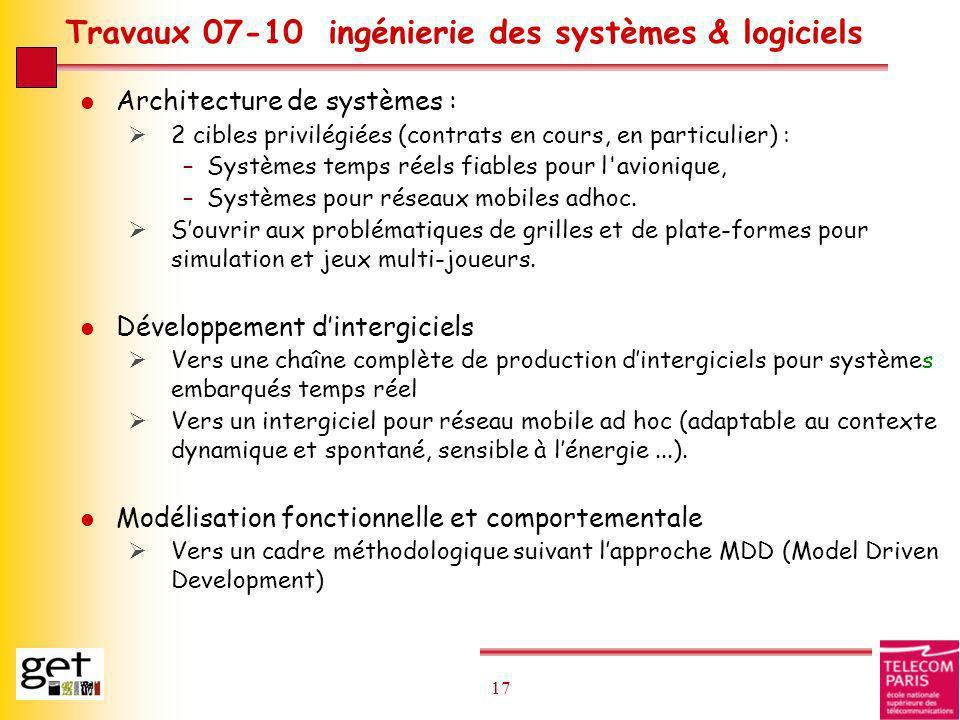 Travaux 07-10 ingénierie des systèmes & logiciels