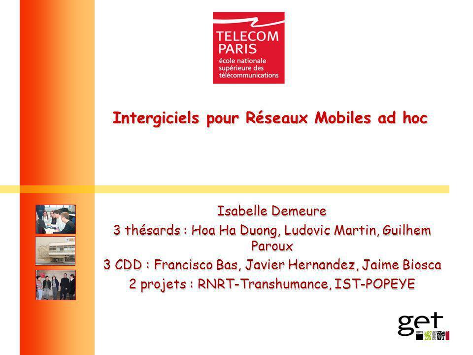 Intergiciels pour Réseaux Mobiles ad hoc