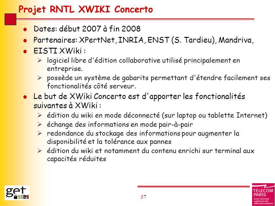 Projet RNTL XWIKI Concerto