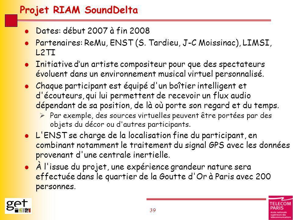 Projet RIAM SoundDelta