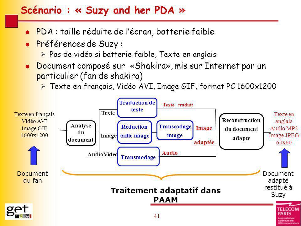 Scénario : « Suzy and her PDA »