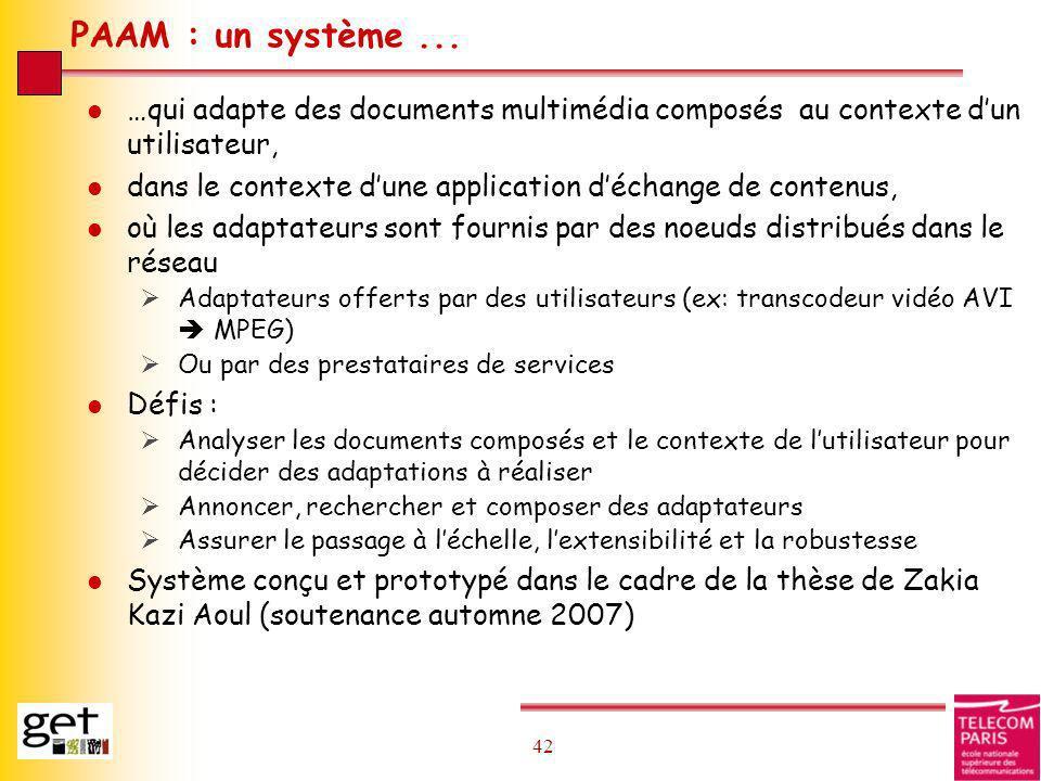 PAAM : un système ... …qui adapte des documents multimédia composés au contexte d'un utilisateur,