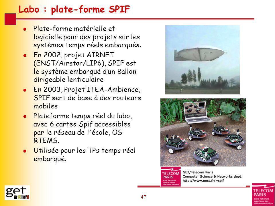 Labo : plate-forme SPIF