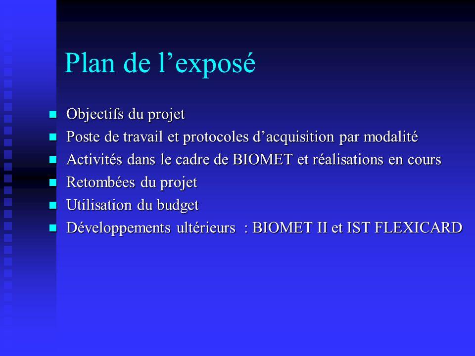 Plan de l'exposé Objectifs du projet