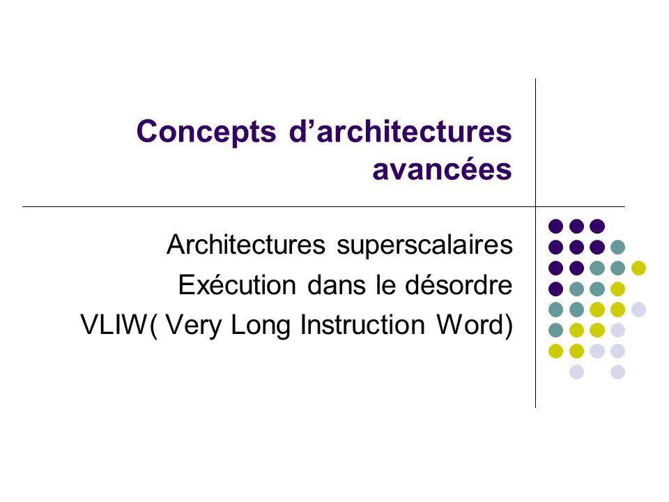 Concepts d'architectures avancées