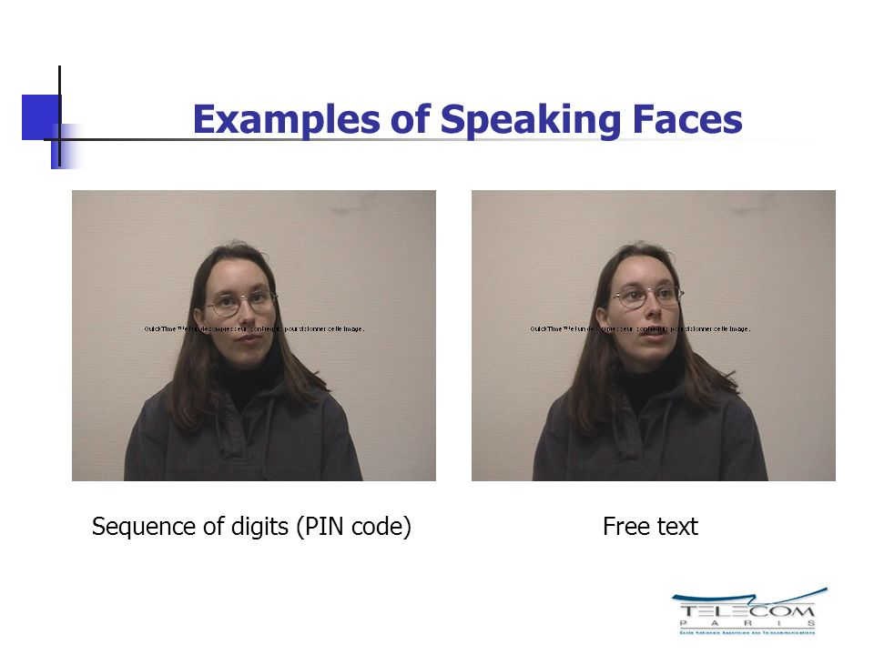 Examples of Speaking Faces