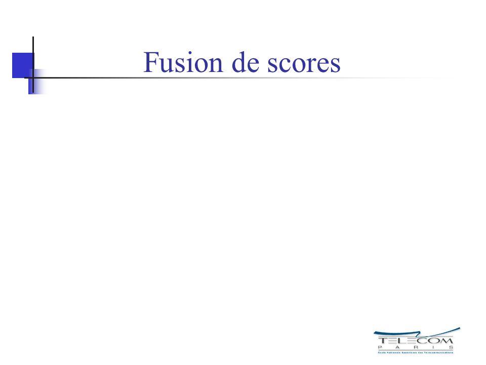Fusion de scores