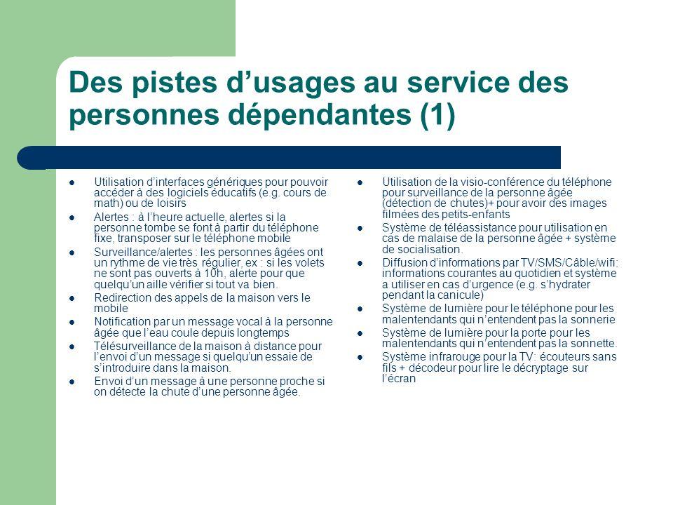 Des pistes d'usages au service des personnes dépendantes (1)