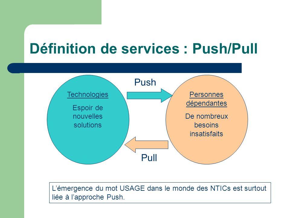Définition de services : Push/Pull