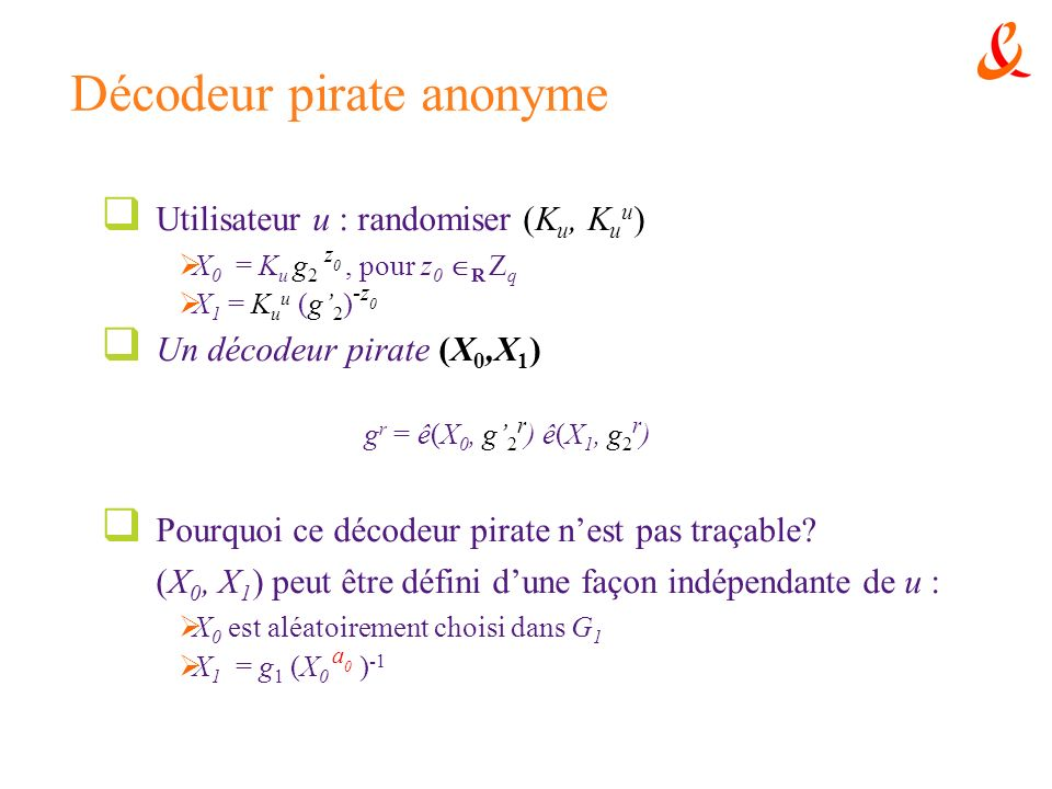 Décodeur pirate anonyme