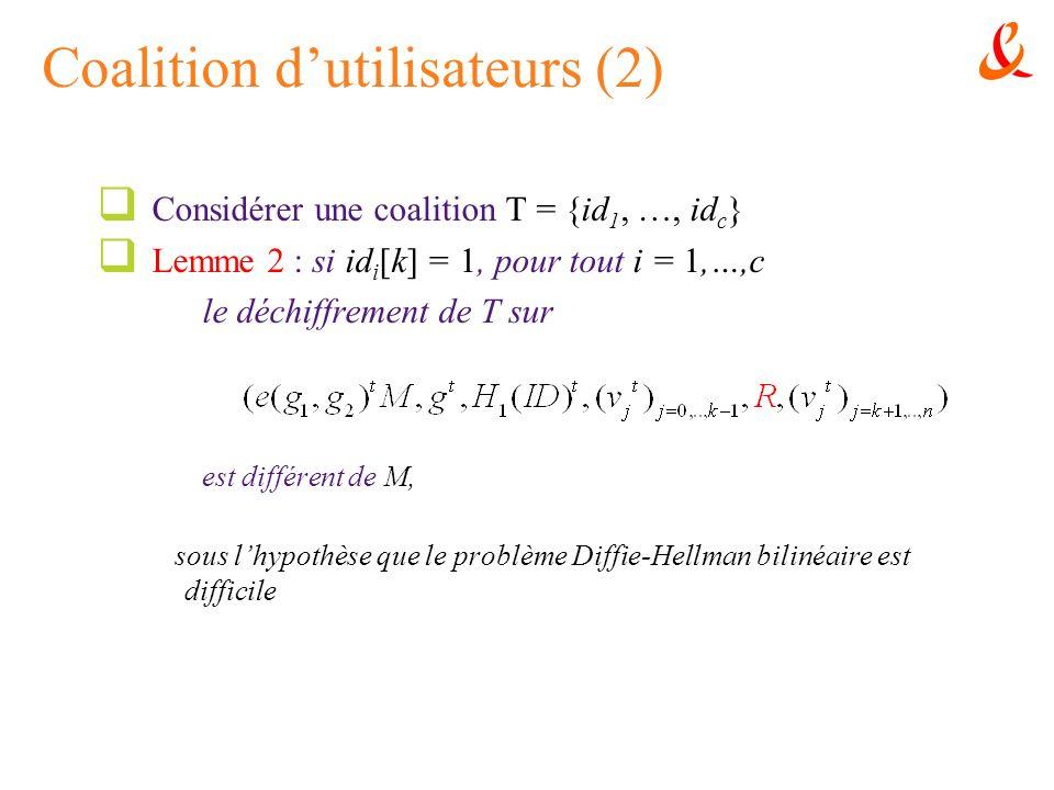 Coalition d'utilisateurs (2)
