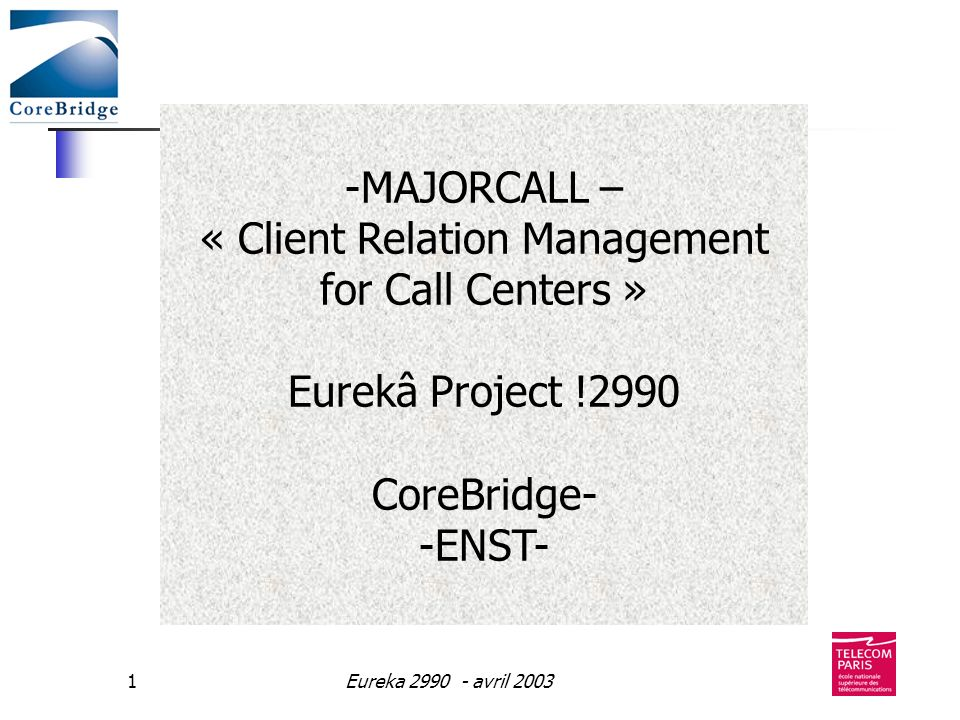« Client Relation Management for Call Centers »
