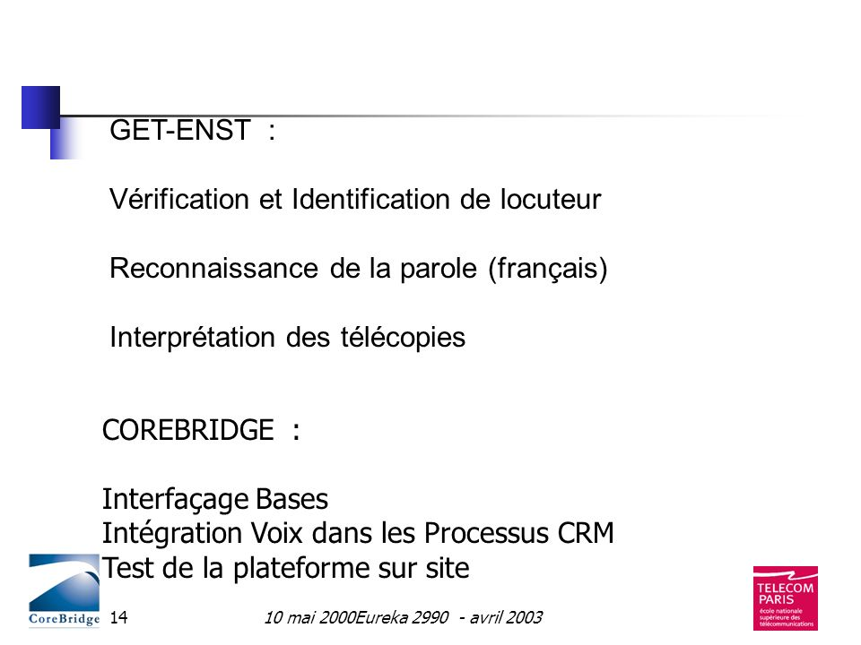 Vérification et Identification de locuteur