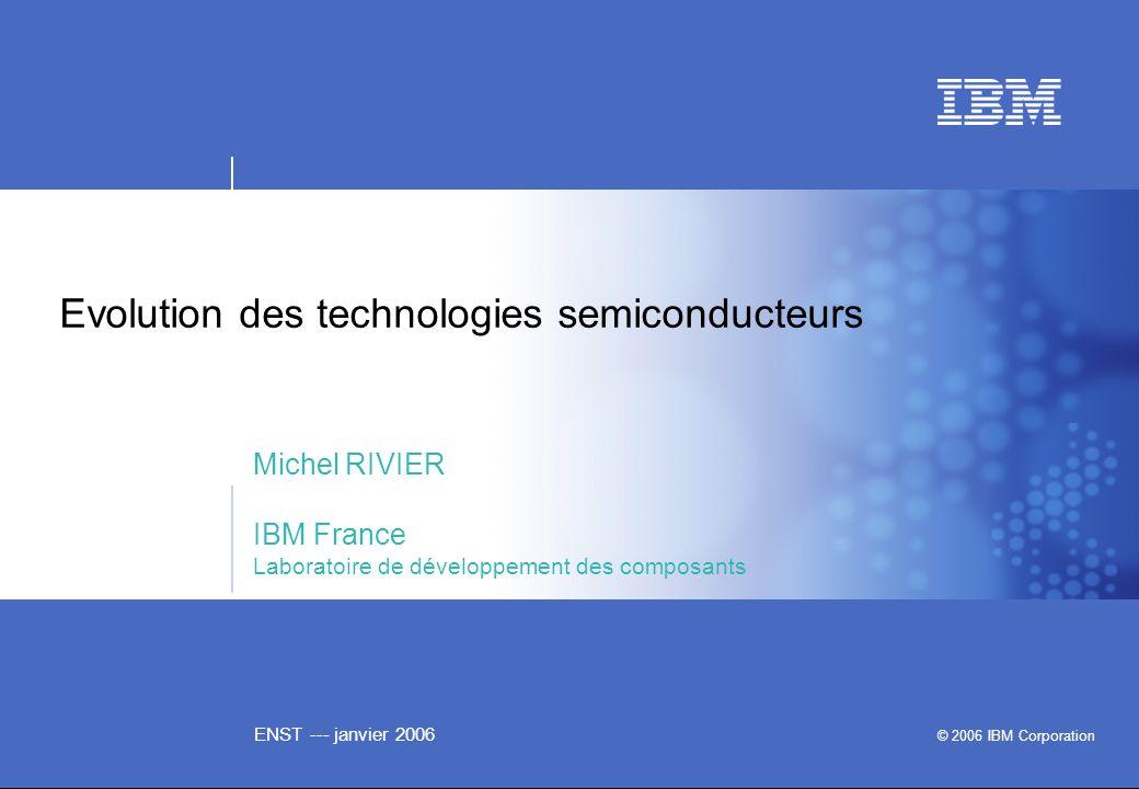 Evolution des technologies semiconducteurs