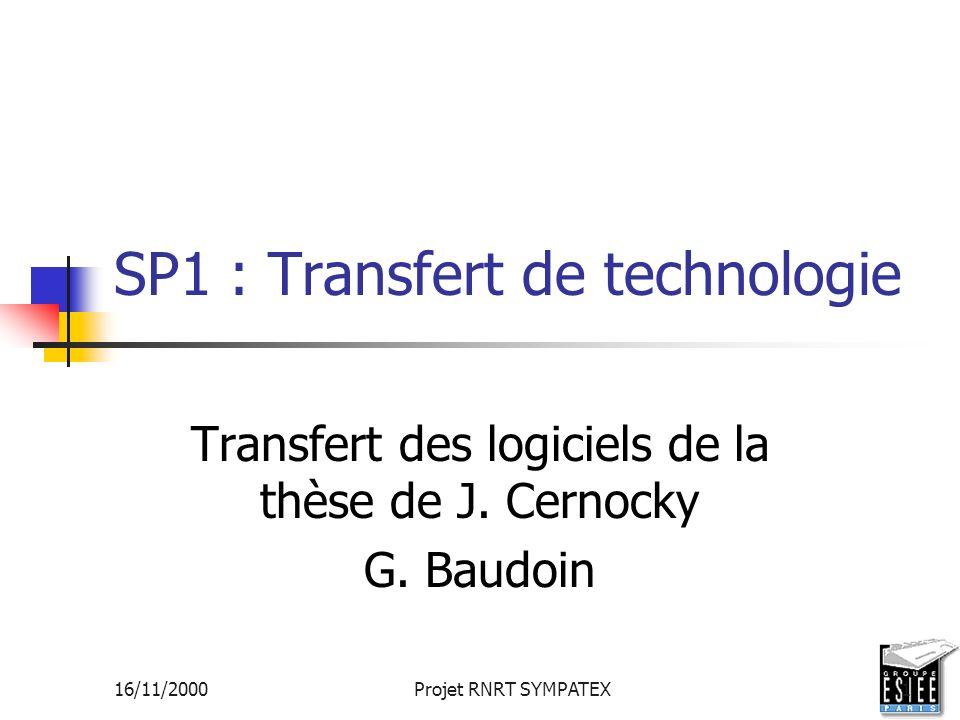 SP1 : Transfert de technologie