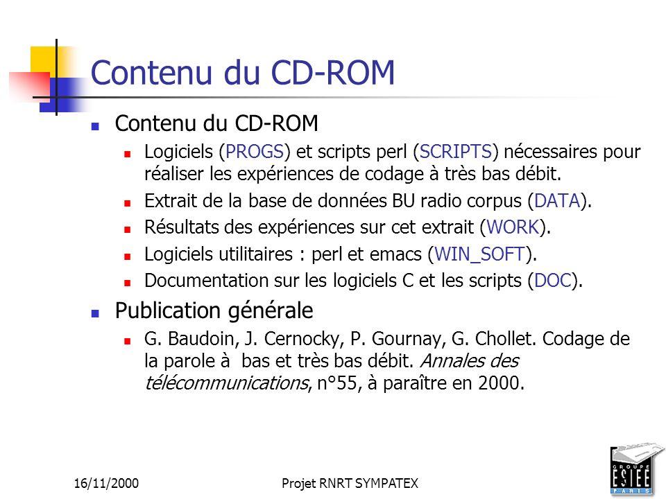 Contenu du CD-ROM Contenu du CD-ROM Publication générale